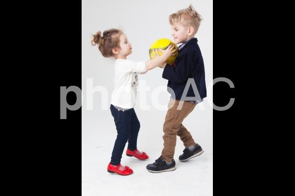 外国人の子供258の写真