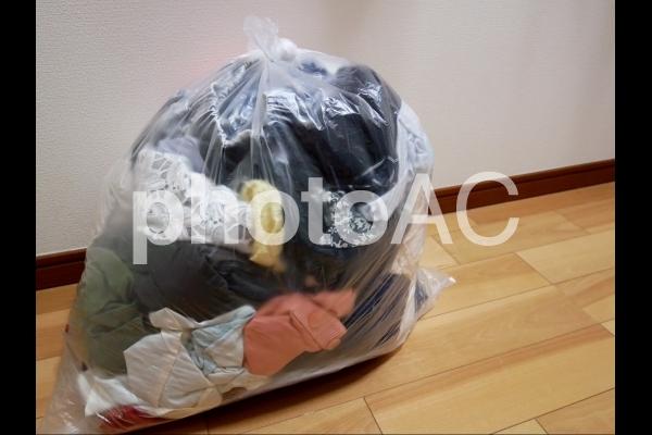 衣類の断捨離の写真
