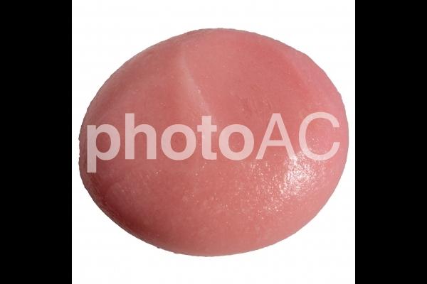 ピンクの丸餅(PSDあり)の写真