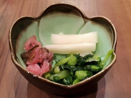 漬け物 小鉢 大根 だいこん 青菜 菜っ葉 茄子 なす ナス 箸休め 香の物 新香 和食