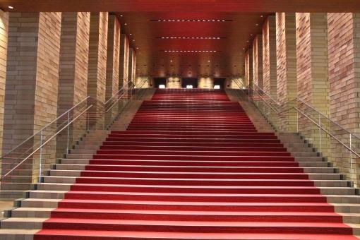 レッドカーペット 絨毯 赤 賞 アワード 階段 式典 ドレスアップ 中之島フェスティバルタワー 中之島 大阪 金色 ビジネス 目指す 目標 達成 映画 一歩 前進 劇場