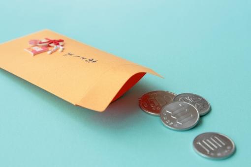おとし玉 おとしだま 正月 お正月 硬貨 お金 100円玉 500円玉 百円 ポチ袋