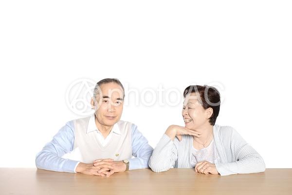 笑顔の老夫婦3の写真