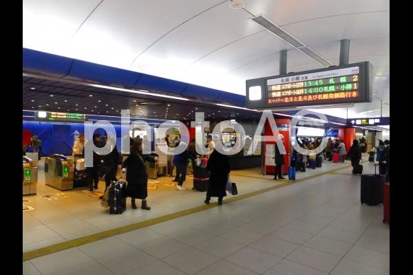 新千歳空港駅改札の写真