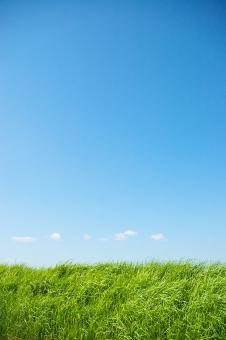 土手と空の写真