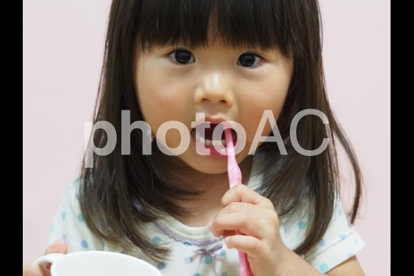 歯磨きをする女の子5の写真