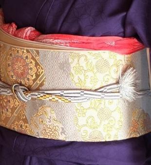 和服 帯 帯締め 接近 クローズアップ 着物 着付け 日本文化 和