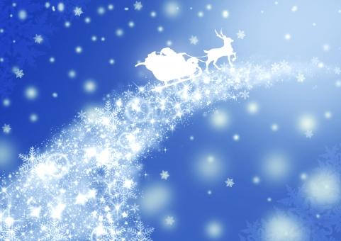 クリスマス 冬 テキストスペース テクスチャ コピースペース 背景 雪 サンタクロース サンタ トナカイ ソリ 夜 空 星 季節 12月 Christmas Xmas