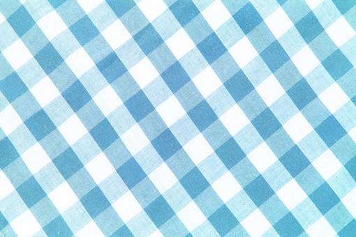 布 織物 チェック 格子 生地 綿 木綿 背景 背景素材 バック パターン バックグラウンド テーブルクロス 柄 模様 テクスチャ テクスチャー 素材 壁紙 テキスタイル 布地 チェック柄 ギンガムチェック カジュアル ナチュラル  青色 ブルー 水色