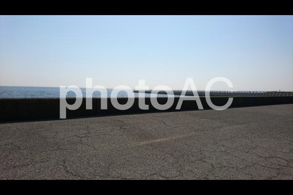 稲毛海岸防波堤の写真