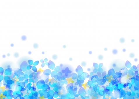 水彩素材 紫陽花の背景の写真