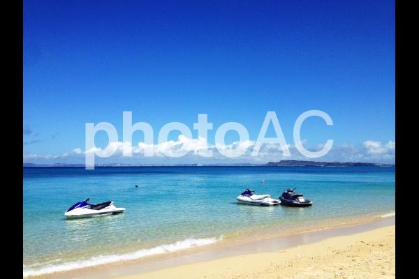沖縄・津堅ビーチの写真