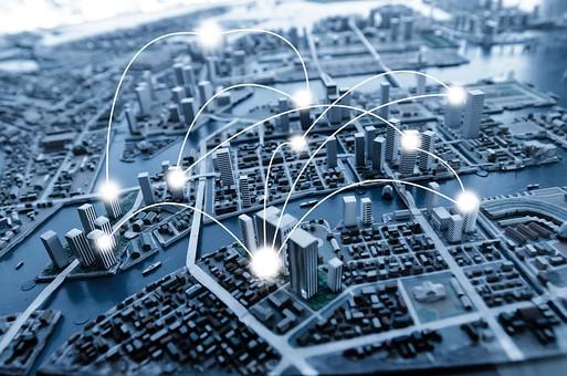 都会の模型の写真