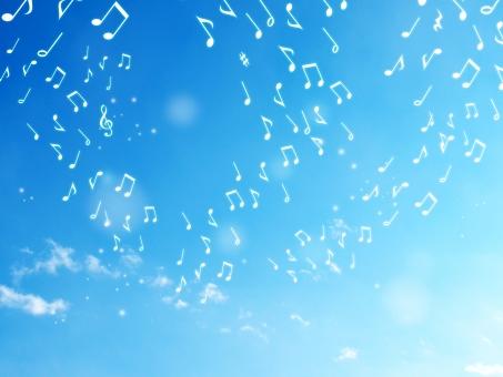 音楽 音符 音楽鑑賞 曲 ミュージック music ト音記号 ハーモニー 音楽会 音楽祭 歌 音楽の秋 流れる コンサート 演奏 背景素材 空 青空 雲 くも 春 背景 風景 バックグラウンド 爽やか 青 自然 ナチュラル 天気 大空 スカイブルー ブルー 晴れ エコ 環境 透明感 景色