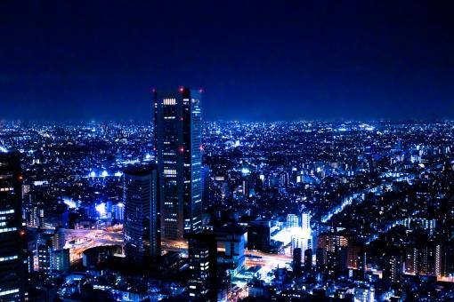 東京夜景 光の絶景2 ブルーの写真