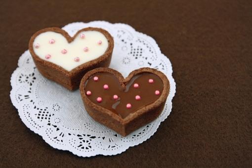 タルト ハート 2 ペア バレンタイン チョコレート ハンドメイド 手作り 2月14日 製菓 お菓子 スイーツ ホワイトチョコ