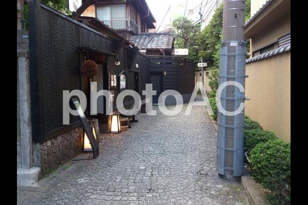 神楽坂の道の写真