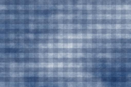 和紙 色紙 台紙 紙 ちぢれ ゴワゴワ テクスチャー 背景 背景画像 ファイバー 繊維 チェック ギンガムチェック 格子 格子模様 青 空 藍 ブルー