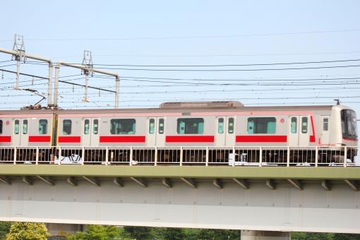 東急線 鉄橋 電車 東横線 鉄道