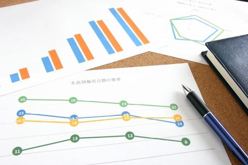 グラフ資料 折れ線グラフ 棒グラフ レーダーチャート データ分析 情報収集 支店別 販売台数 ビジネス 会議資料 営業会議 打ち合わせ ミーティング マーケティング 販売実績 販売成績 推移 売上 利益 変動 目標設定 資料 書類 数値化 経営戦略 販売戦略 背景素材 オフィス 業務 仕事