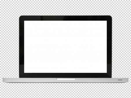 ノートパソコン(PSDファイル)の写真