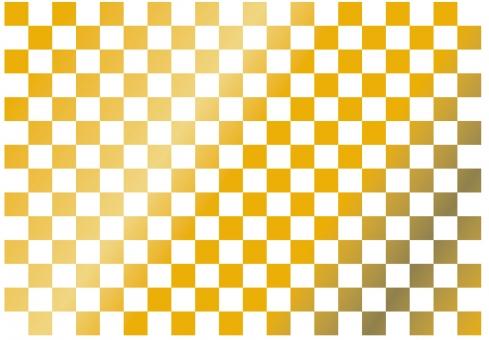 ゴールド ごーるど 黄金 ぴかぴか ピカピカ 模様 市松 四角 キラキラ グラデーション 金属 メタリック 和風 和 箔 素材 背景 テクスチャ