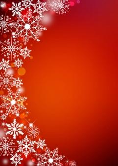 クリスマス_レッド_縦背景の写真