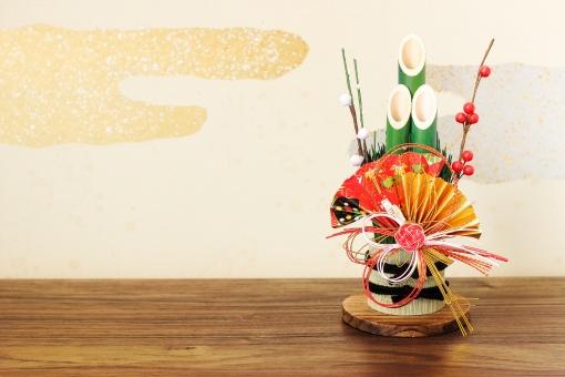 門松のお正月背景の写真