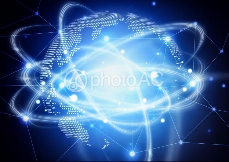 地球とネットワークのイメージの写真