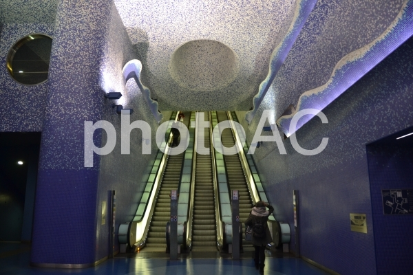 ナポリ 地下鉄 トレドの写真