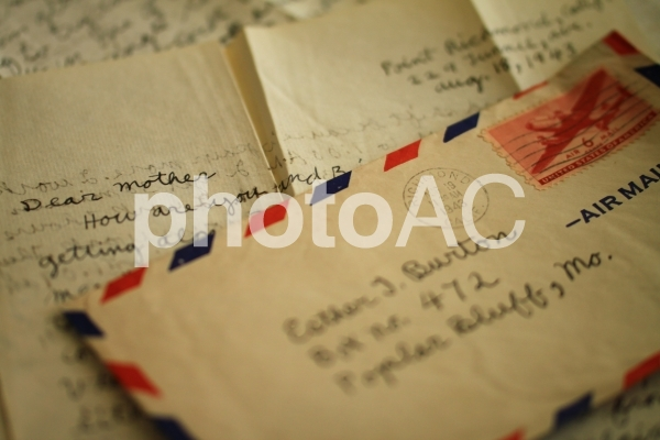 アンティークな手紙の写真
