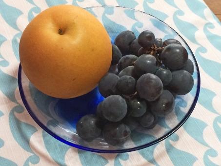 御供え 仏事 果物 水菓子 ぶどう ブドウ 葡萄 巨峰 ナシ 梨 きらり なし 仏前 お彼岸 フルーツ 初秋 お供え