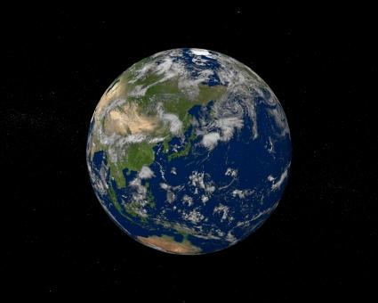 雲 日本 地球 天体 惑星 宇宙 太平洋 東アジア