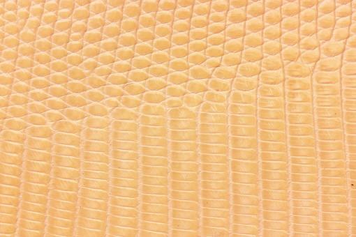 革 皮 皮革 レザー 素材 背景 バックグラウンド テクスチャ 上品 高級 エレガント 牛革 豚革 天然素材 生地 おしゃれ ヘビ 蛇 蛇革 ワニ わに ワニ革 黄色 クリーム色 黄土色 薄茶 茶色 オレンジ