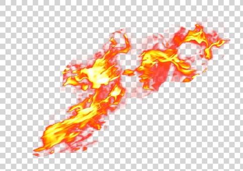炎 22549  psd 切抜き済みRの写真