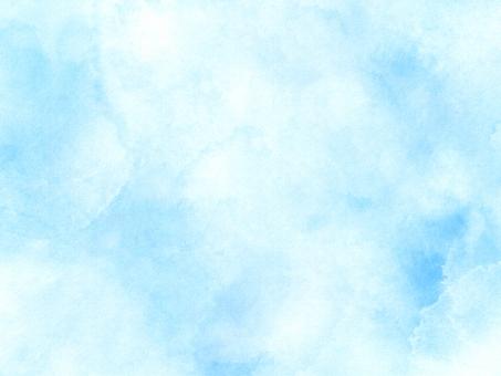 柔らかい水色の水彩背景の写真