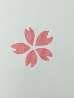 桜 さくら サクラ 柄 模様 テクスチャ ステンシル 絵 ピンク 花 花びら ハンドメイド 花弁 マーク 絵の具 sakura stencil pink flower cherry blossom paint coloring handmade texture mark watercolors