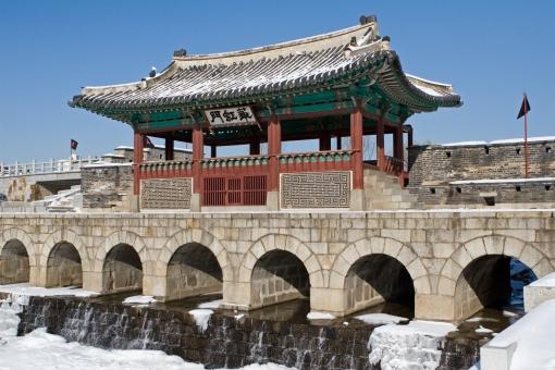 世界遺産 水原華城 華虹門 大韓民国 韓国 観光地 観光 旅行 華城 水原 スウォン アジア