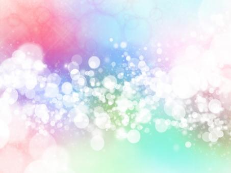 宇宙 小宇宙 まる ドット 水玉 カラフル 光 点 赤 青 緑 派手 広がる インパクト 空間 エネルギー スペース 背景 テクスチャ 壁紙 素材 イメージ 原色 星 賑やか 元気 引き寄せ ごちゃごちゃ 寒色 かわいい