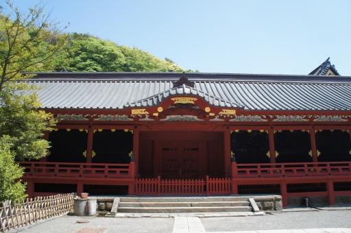 神社 鶴岡八幡宮 赤 建物 参拝 お参り 空 緑