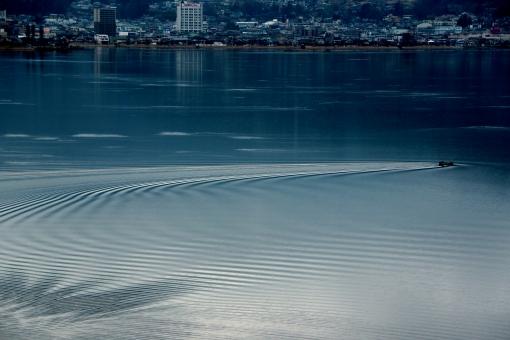 船 湖 波紋 河 海