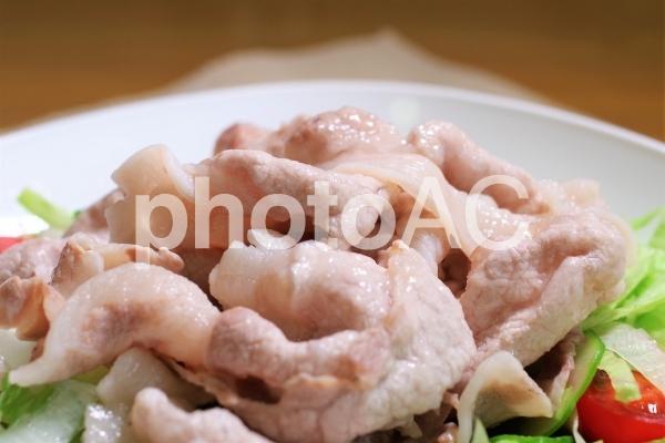 薄切り豚ロース肉の冷シャブの写真