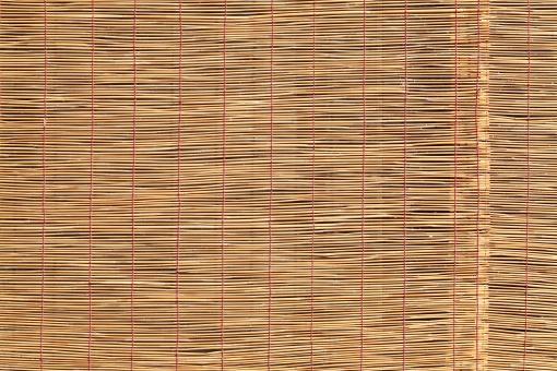 簾 すだれ スダレ インテリア 竹 竹材 枝 日よけ 日除け 清涼 夏 涼しい 涼しさ 涼 風情 風流 情緒 和風 雑貨 背景 素材 葦 アジア 日本 文化 日本文化 伝統 バックグラウンド 茶色 黄色 質感 テクスチャ テクスチャー 模様 パターン 糸 紐 編む 部分 一面 全面 フルフレーム アップ クローズアップ 壁紙