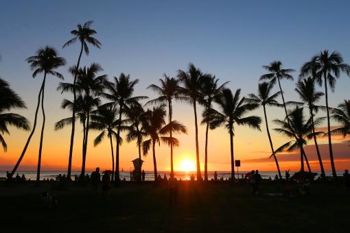 ハワイの夕陽(02)の写真