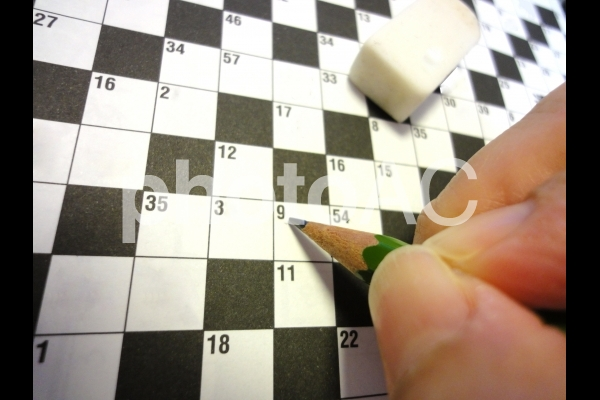 クロスワードパズルの写真