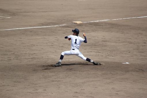 ピッチャー 投手 エース 背番号1 野球 高校野球