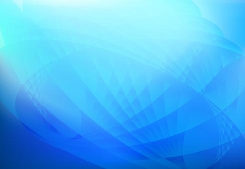 青の流線型抽象背景素材の写真