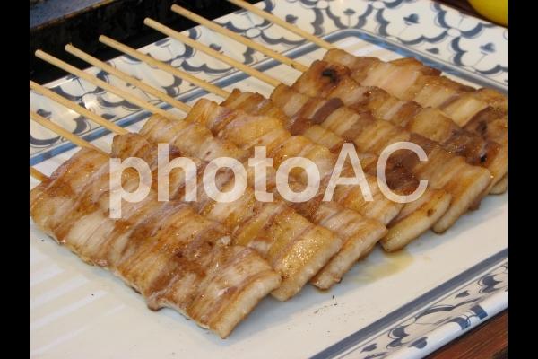 屋台の焼き鳥 豚バラの写真