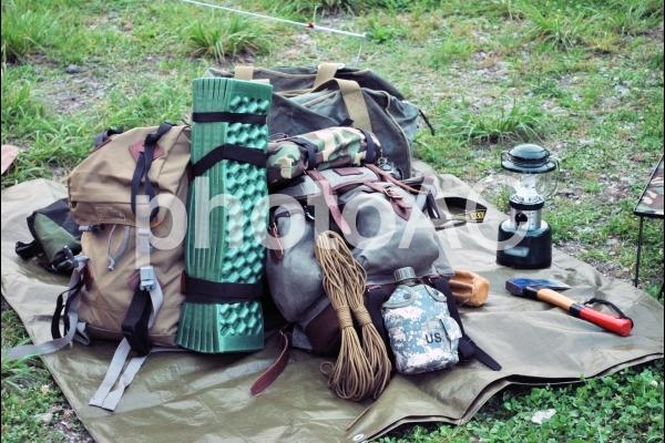 キャンプ道具一式の写真