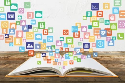 本から学習する様々なコンテンツイメージと白壁テクスチャの写真